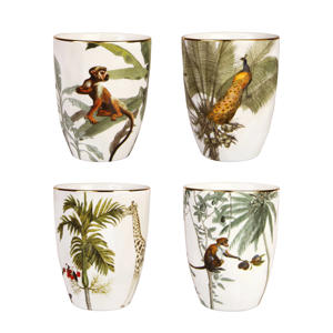 Jungle mok (Ø16,5 cm) (set van 4)