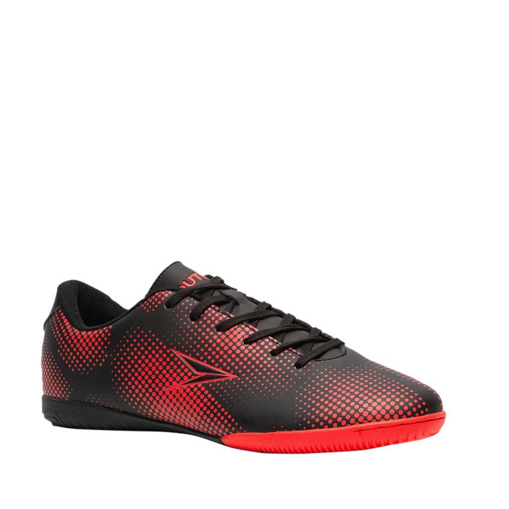 Scapino Dutchy   IC zaalvoetbalschoenen zwart/rood, Zwart/rood
