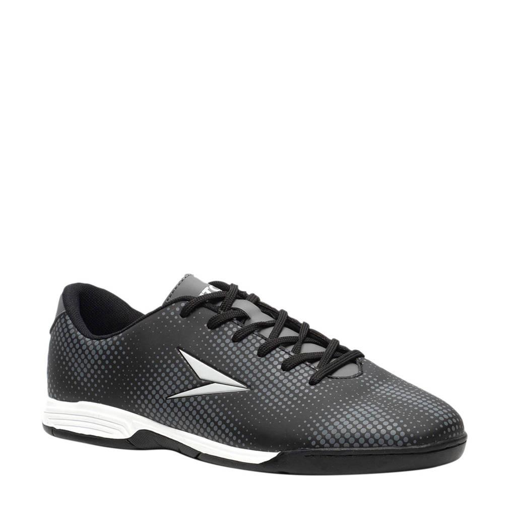Scapino Dutchy Dott  zaalvoetbalschoenen zwart/wit, Zwart/grijs