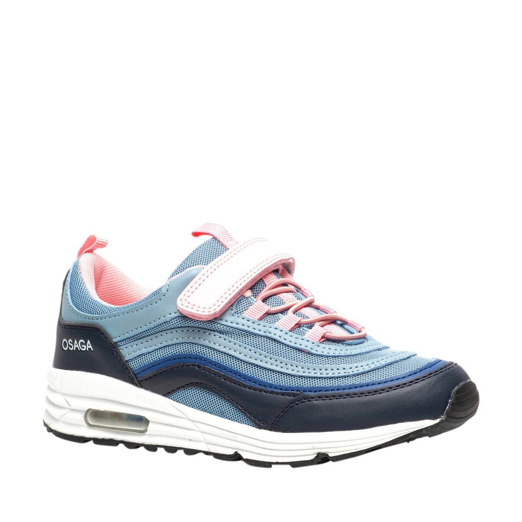 Scapino Osaga   sneakers blauw/roze/wit, Blauw/roze/wit