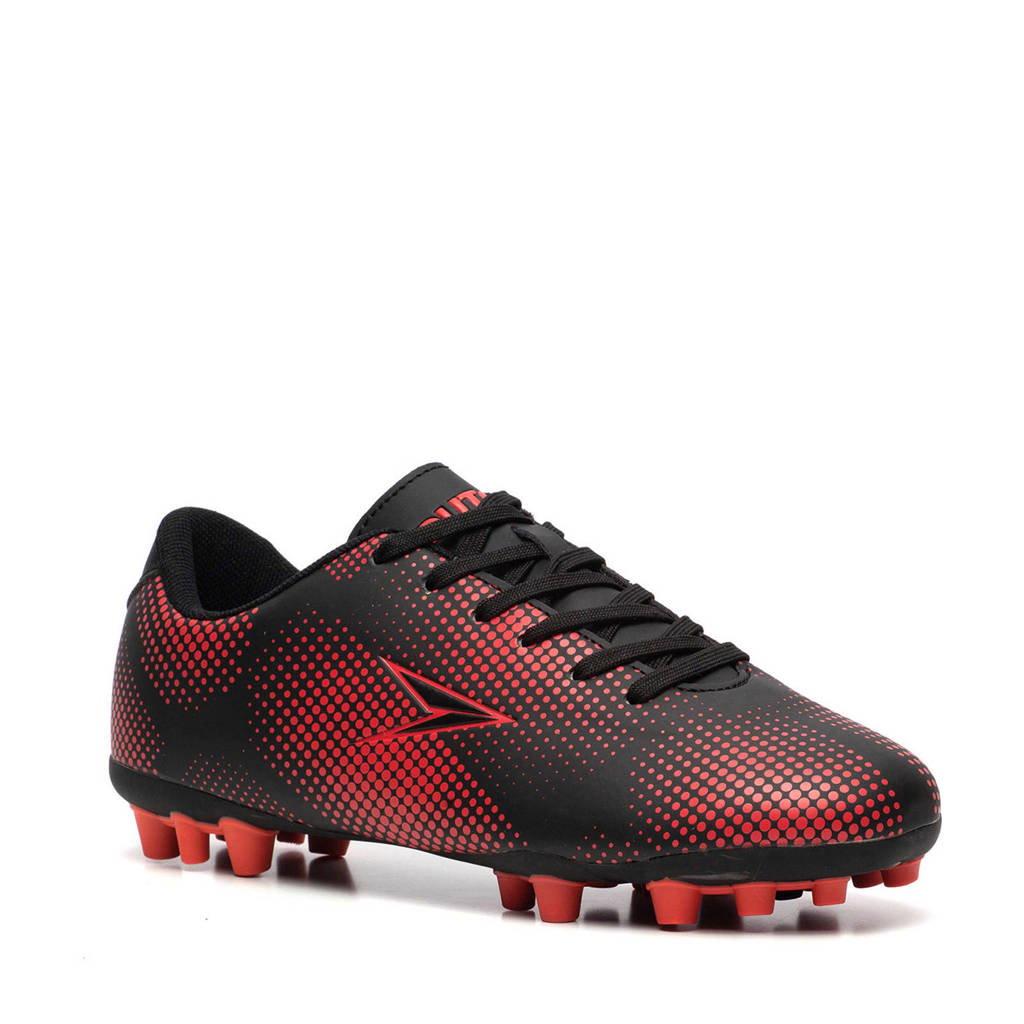 Scapino Dutchy   FG voetbalschoenen zwart/rood, Zwart/rood