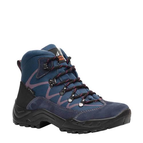 Scapino Mountain Peak leren wandelschoenen blauw/r