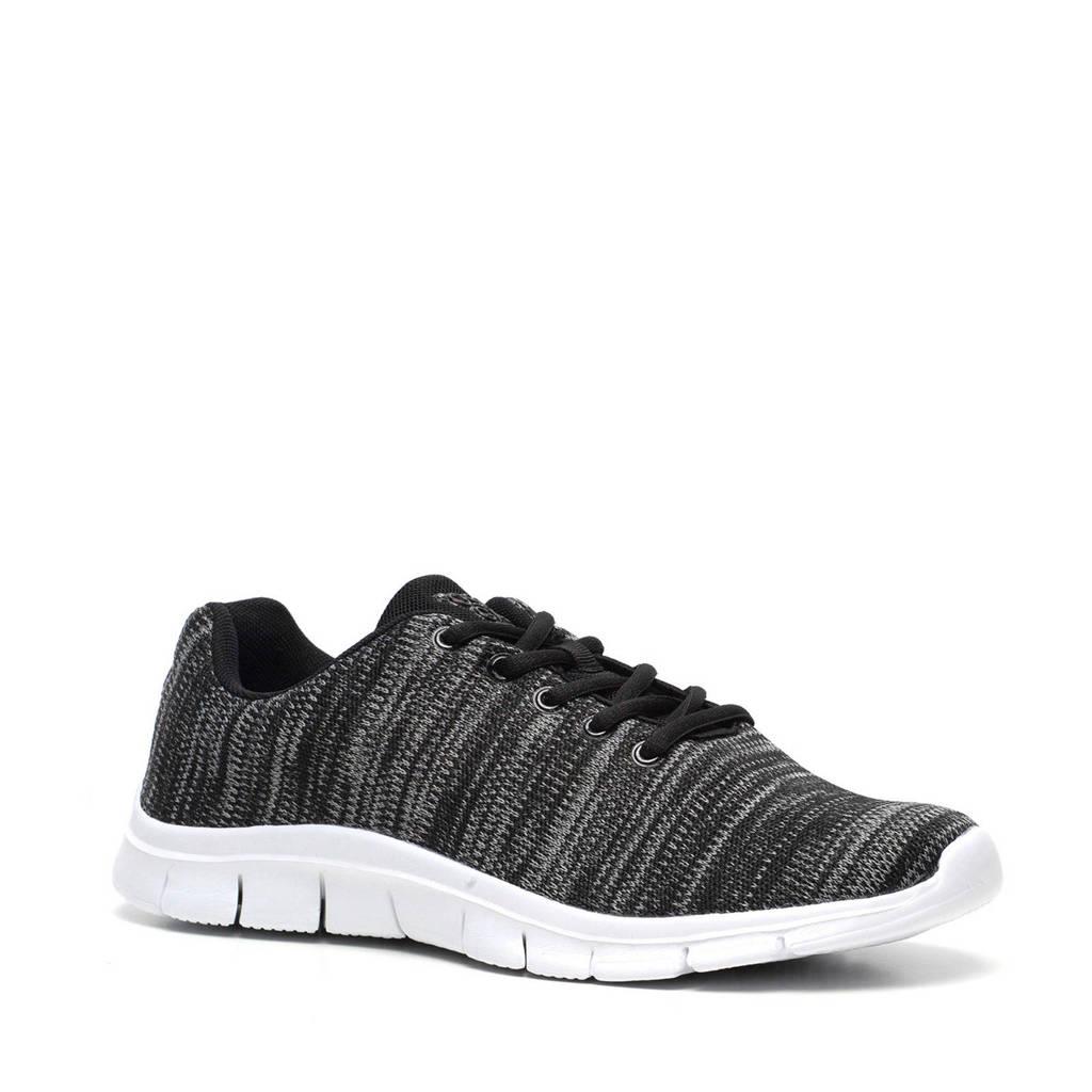 Scapino Osaga   sportschoenen zwart/grijs, Zwart/grijs