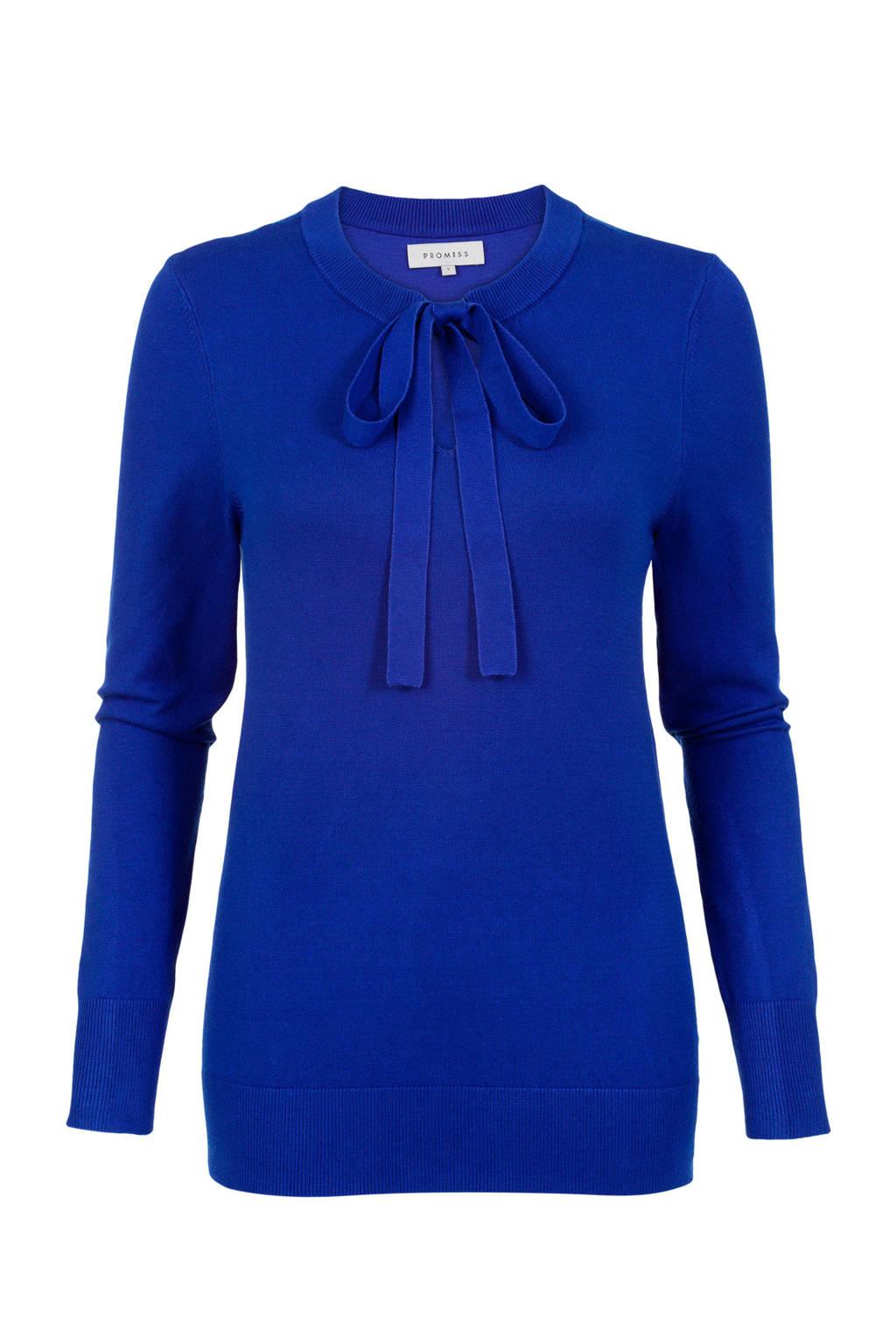 PROMISS fijngebreide trui blauw, Blauw