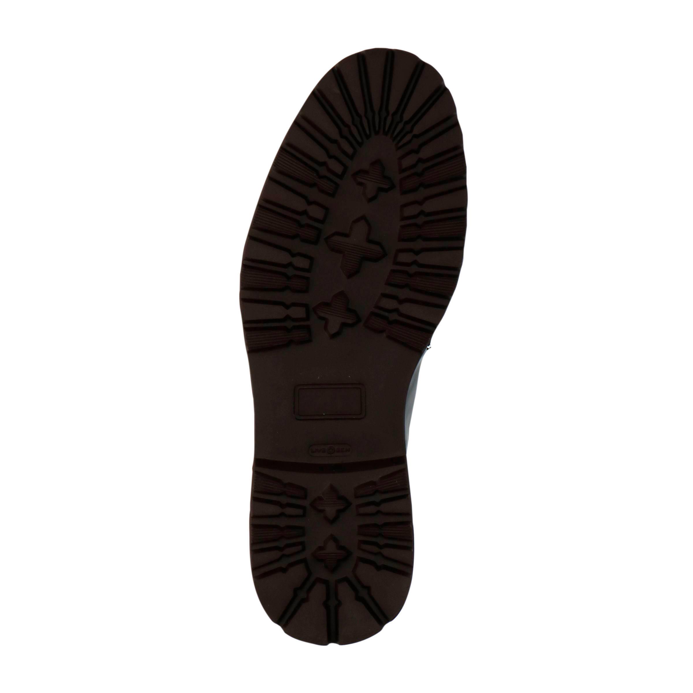 Beaumont leren veterschoenen zwart