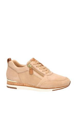 suède sneakers camel