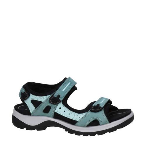 Ecco Offroad nubuck outdoor sandalen blauw/groen