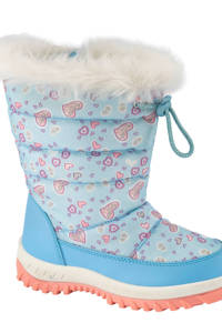 Cortina   snowboots lichtblauw, Lichtblauw/roze
