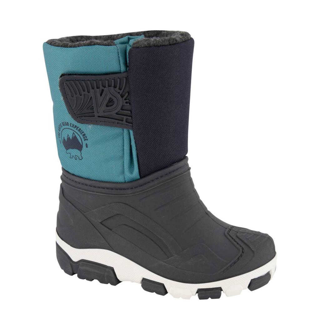 Cortina   snowboots zwart/blauw, Zwart/blauw