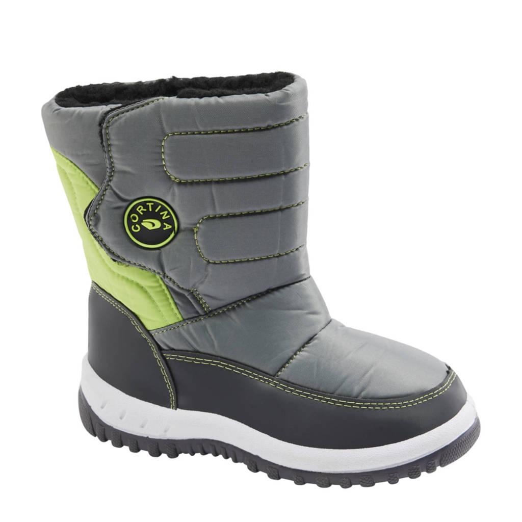 Cortina   snowboots grijs/groen, Grijs/groen