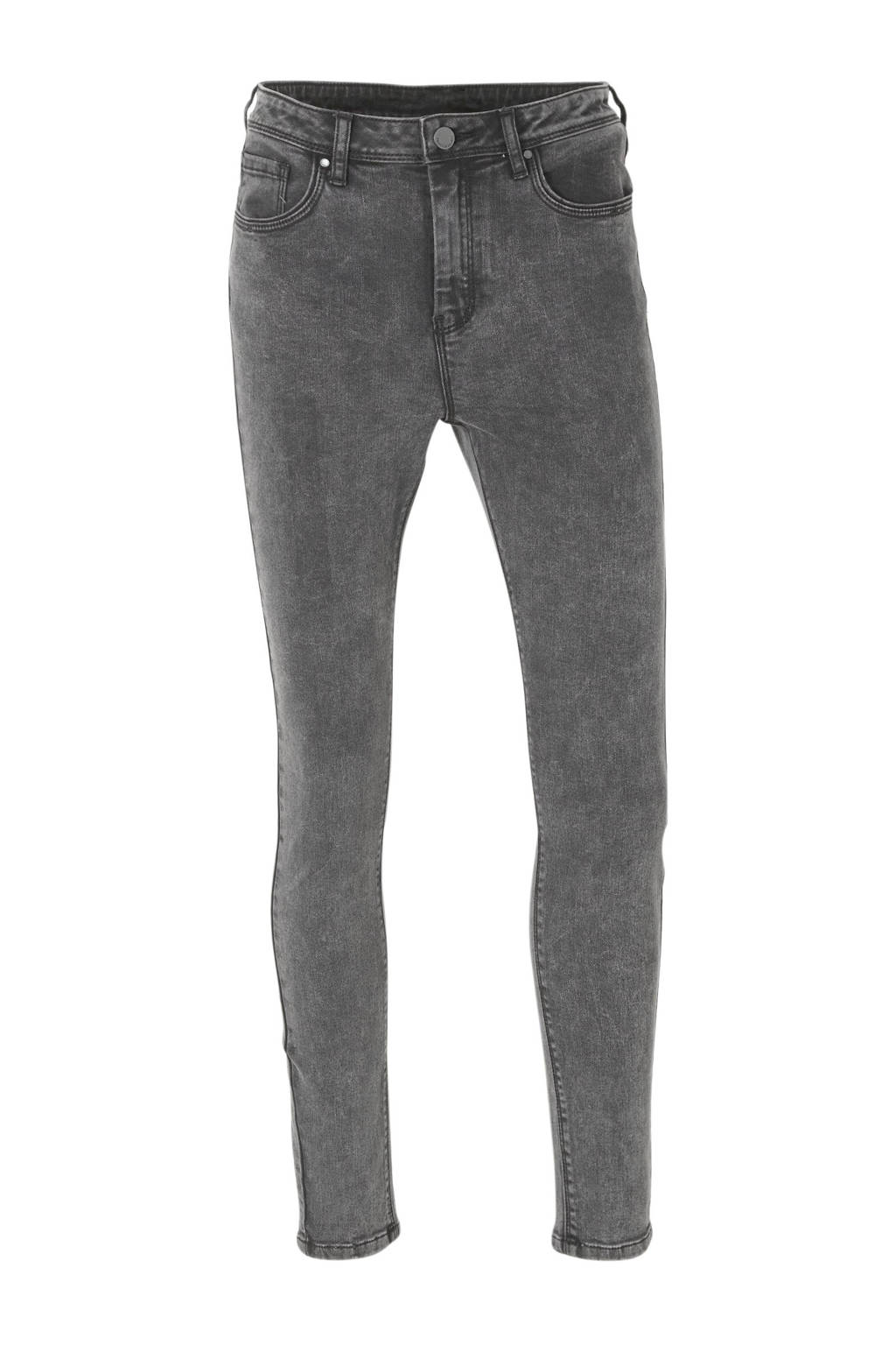 C&A Yessica high waist skinny jeans donkergrijs, Donkergrijs