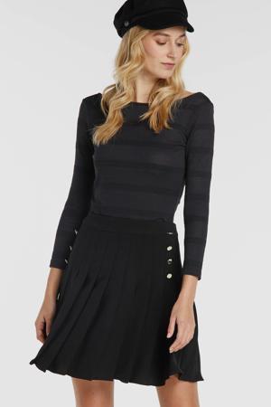 plissé rok Arub zwart