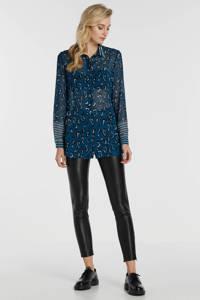 GUESS imitatieleren high waist skinny broek Dalia zwart, Zwart