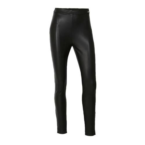 GUESS imitatieleren high waist skinny broek Dalia
