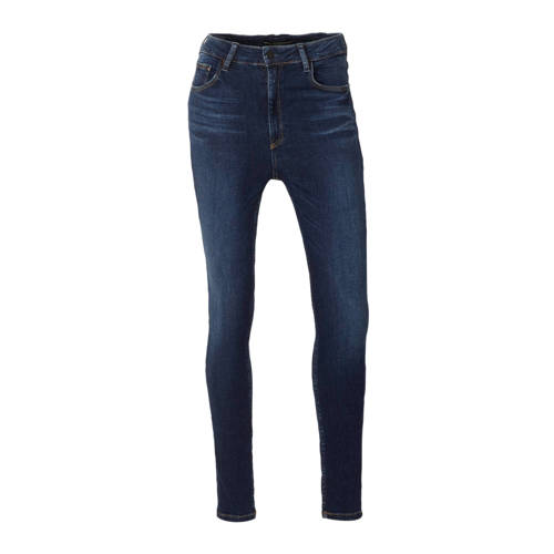 GUESS high waist skinny jeans donkerblauw
