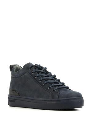 SK54  suède sneakers donkerblauw