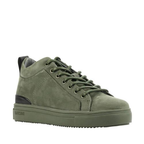 Blackstone SK54 su??de sneakers groen