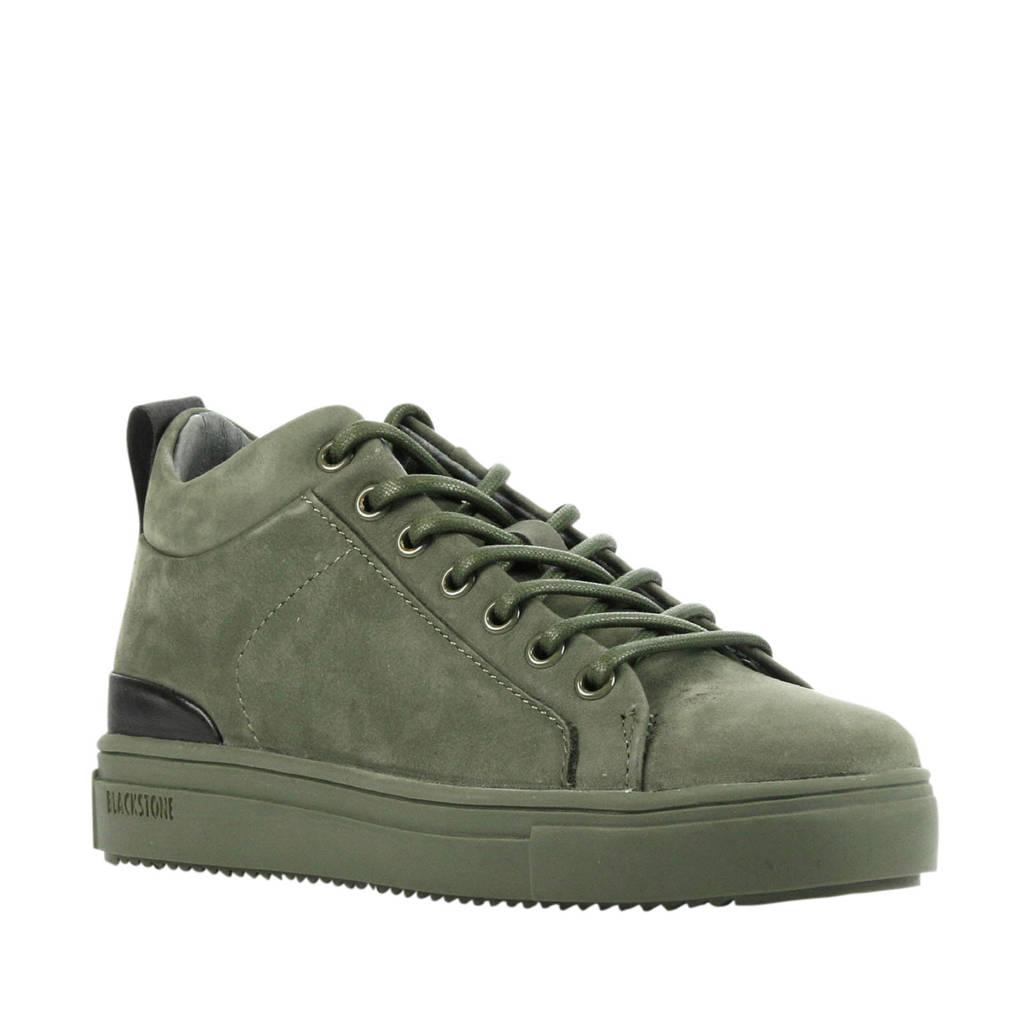Blackstone SK54  suède sneakers groen, Groen