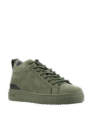 SK54  suède sneakers groen