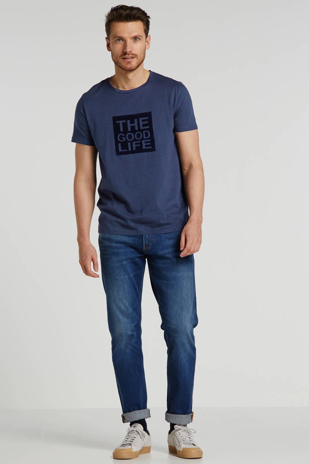 J.C. Rags T-shirt met printopdruk donkerblauw, Donkerblauw