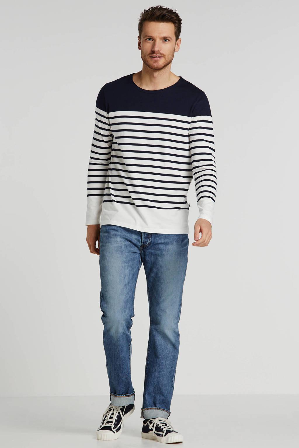 J.C. Rags gestreept T-shirt donkerblauw/wit, Donkerblauw/wit