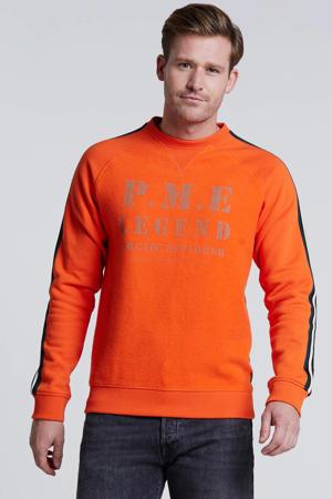 sweater met printopdruk oranje