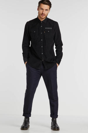regular fit overhemd zwart