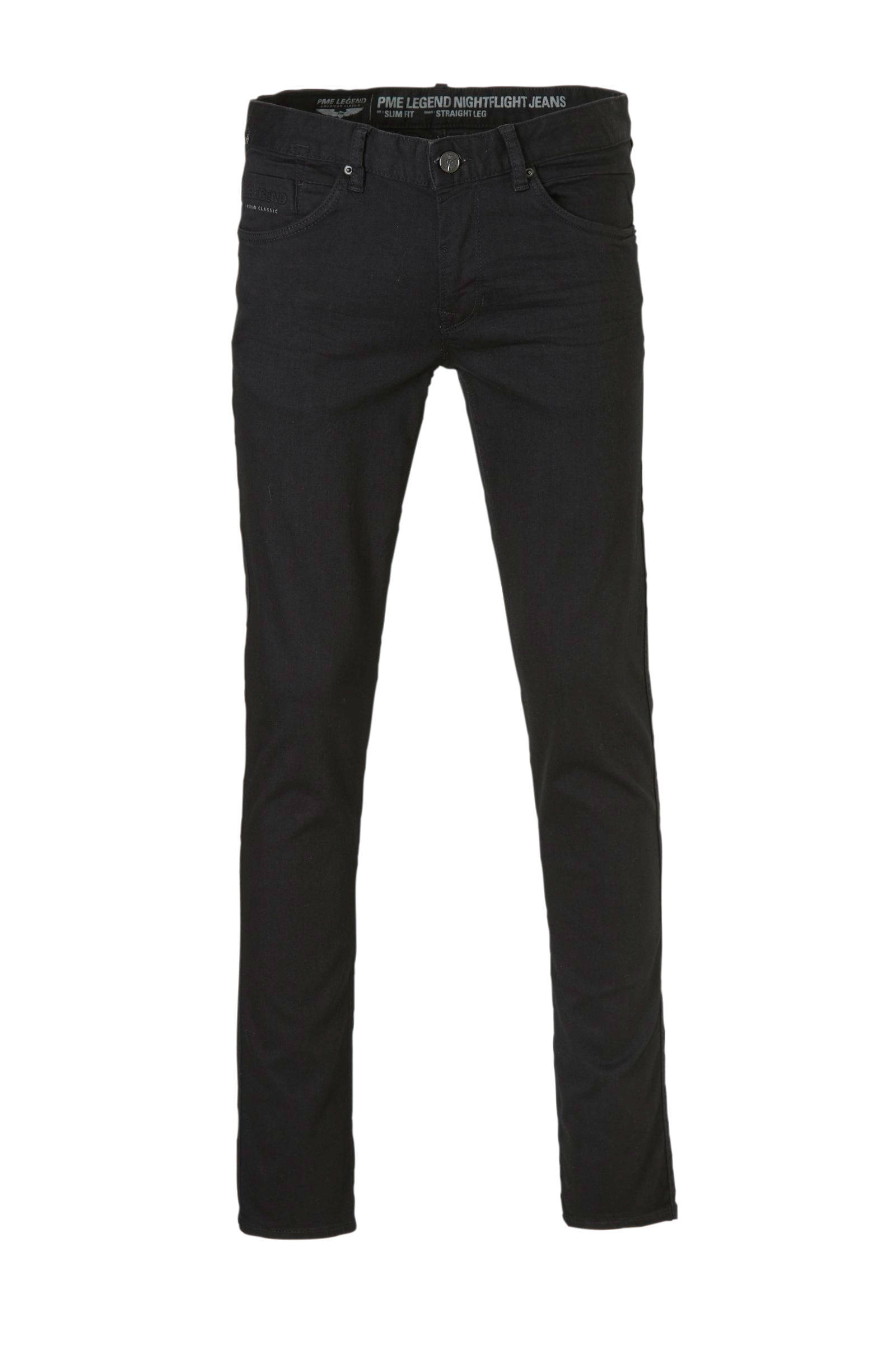 slim fit jeans Nightflight zwart