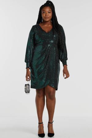 jurk met pailletten groen
