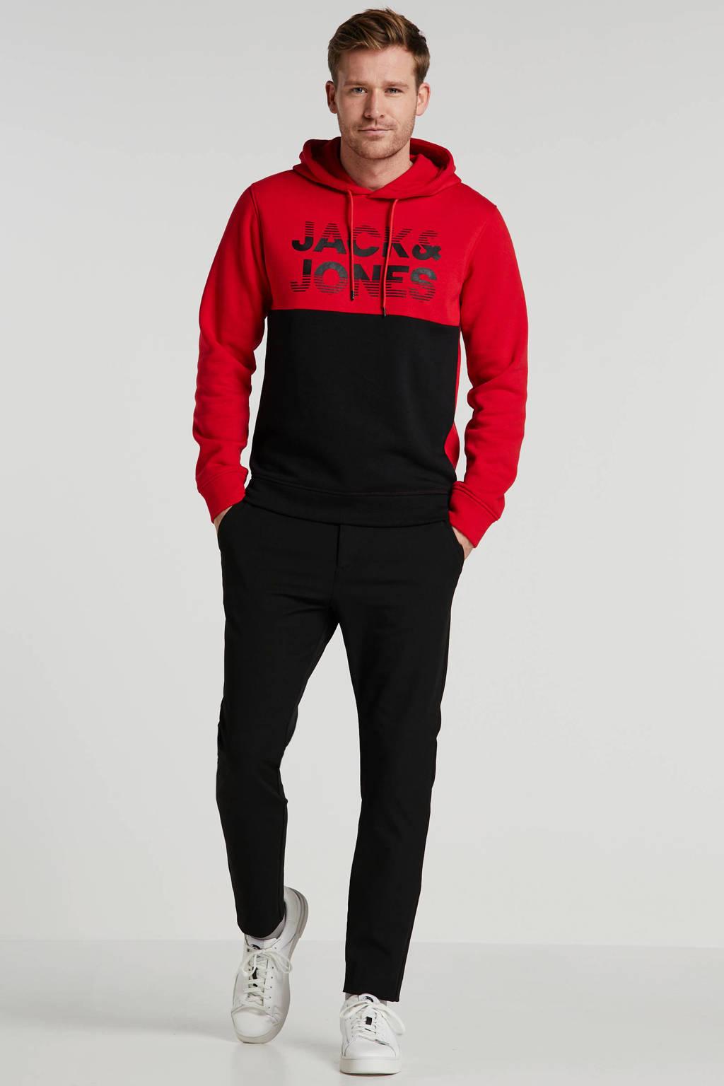 JACK & JONES CORE hoodie met tekst rood, Rood