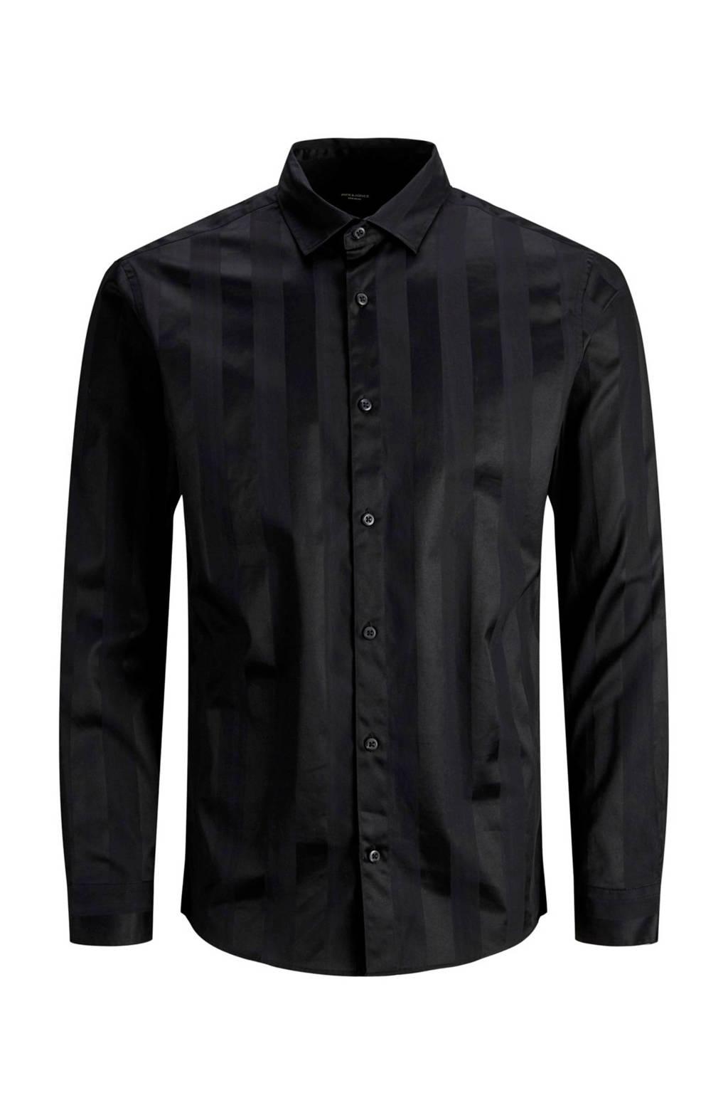 JACK & JONES PREMIUM slim fit overhemd zwart, Zwart
