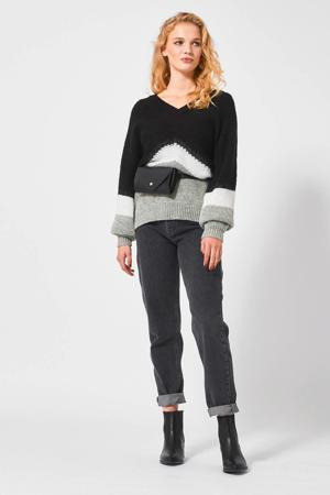 gebreide trui grijs/zwart