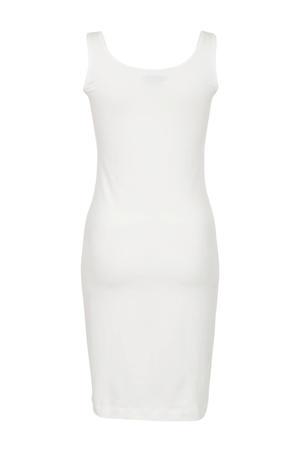 jersey jurk wit