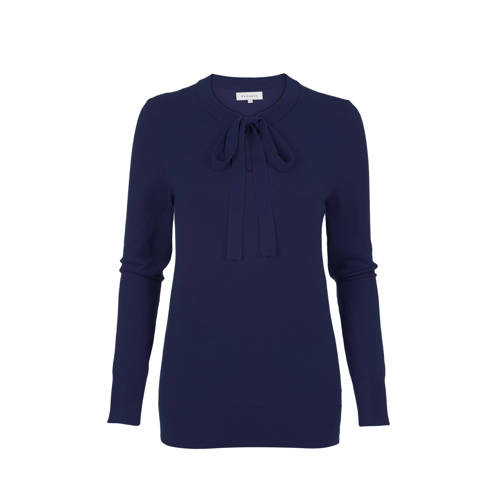 PROMISS fijngebreide trui donkerblauw