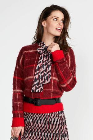 geruite trui rood