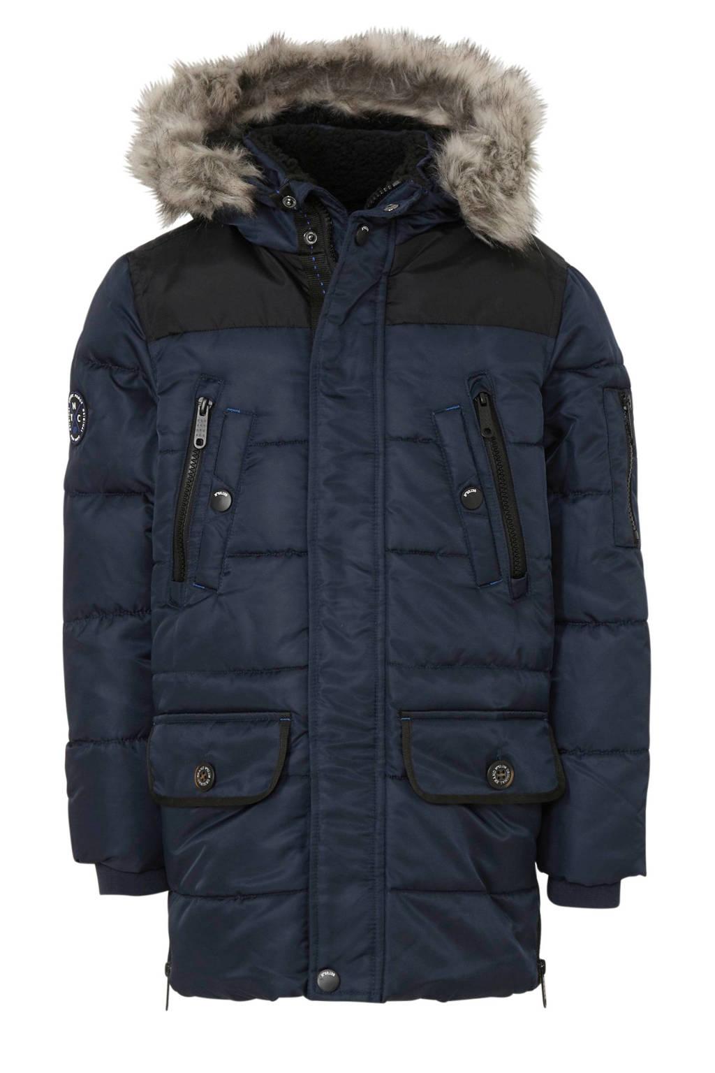 C&A Here & There winterjas donkerblauw/zwart, Donkerblauw/zwart