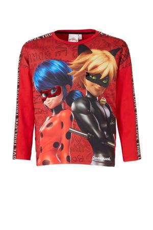 oversized Ladybug longsleeve met print en pailletten rood