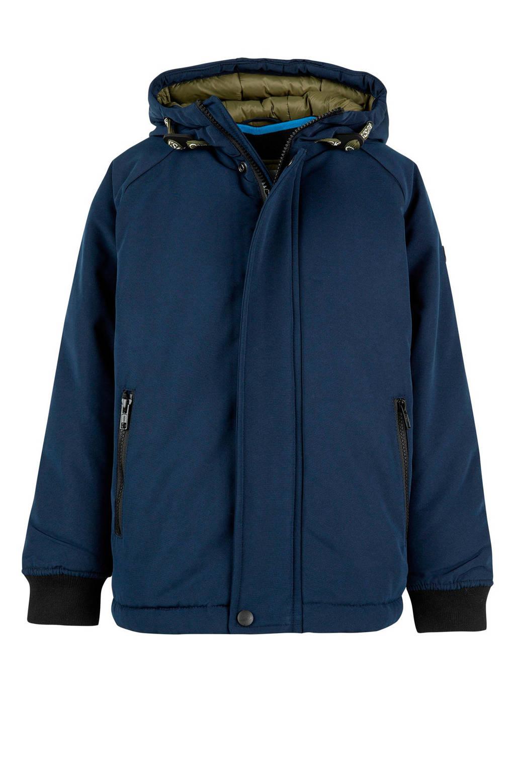 CKS KIDS winterjas met uitneembare bodywarmer, Donkerblauw/groen