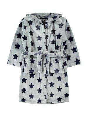 badjas met sterren grijs