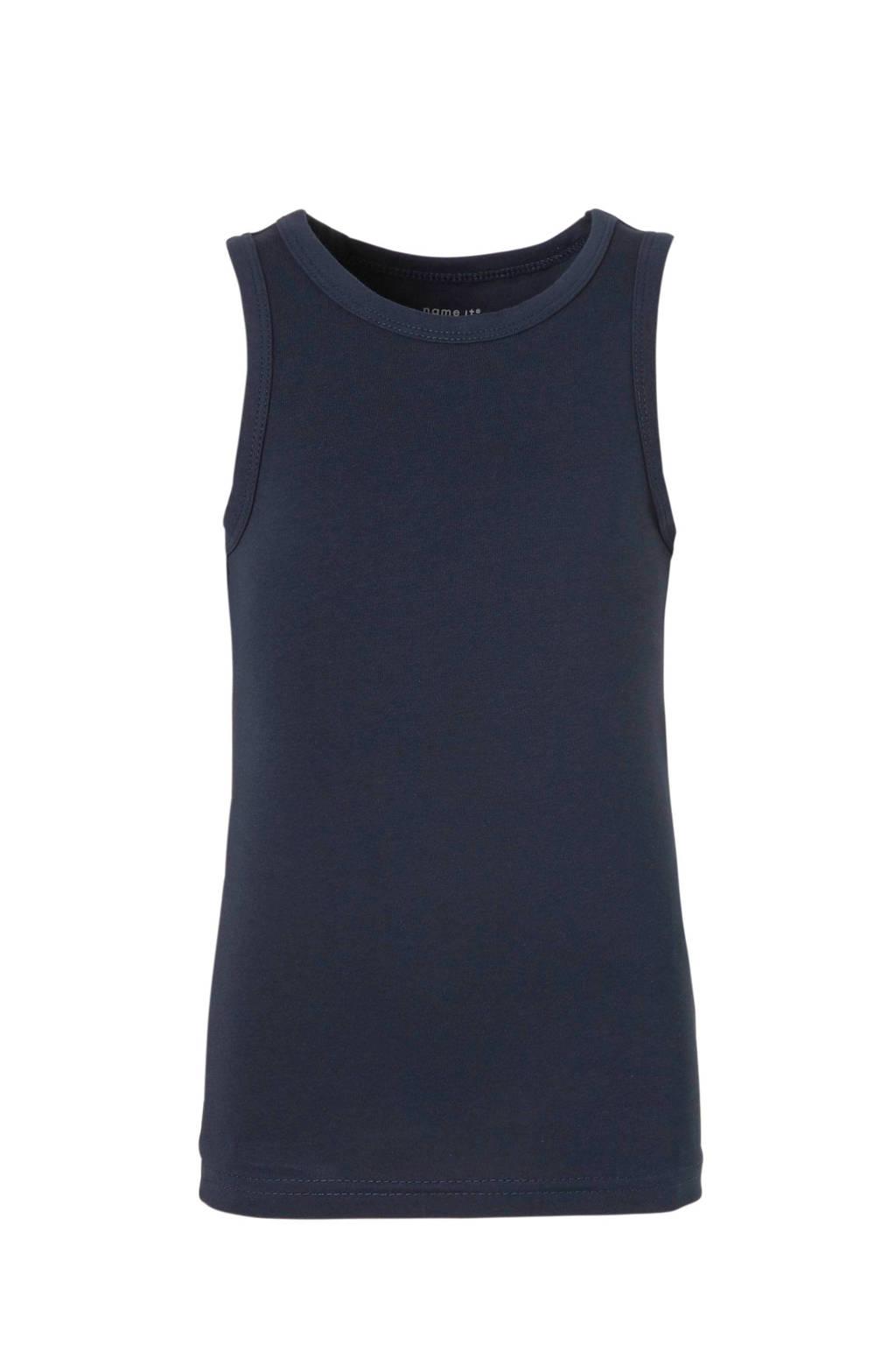 NAME IT MINI hemd - set van 2, Grijs melange/ donkerblauw