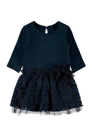 BABY jersey jurk met biologisch katoen donkerblauw
