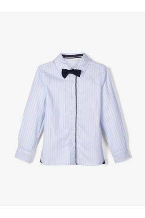 MINI gestreept overhemd met strik lichtbauw