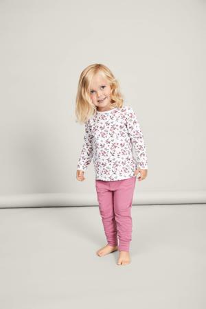 pyjama met bloemdessin roze