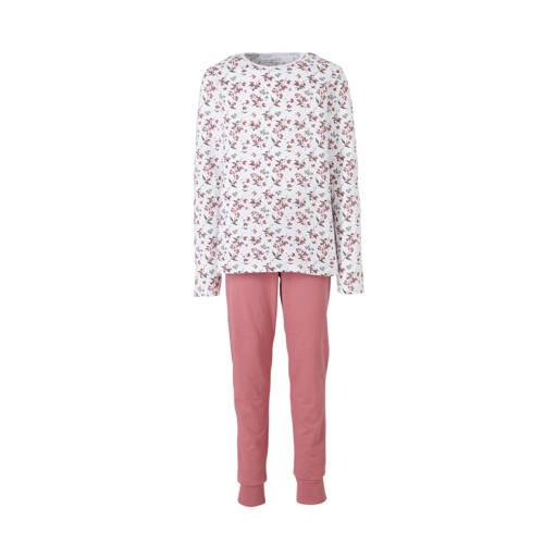 NAME IT KIDS pyjama met bloemdessin roze