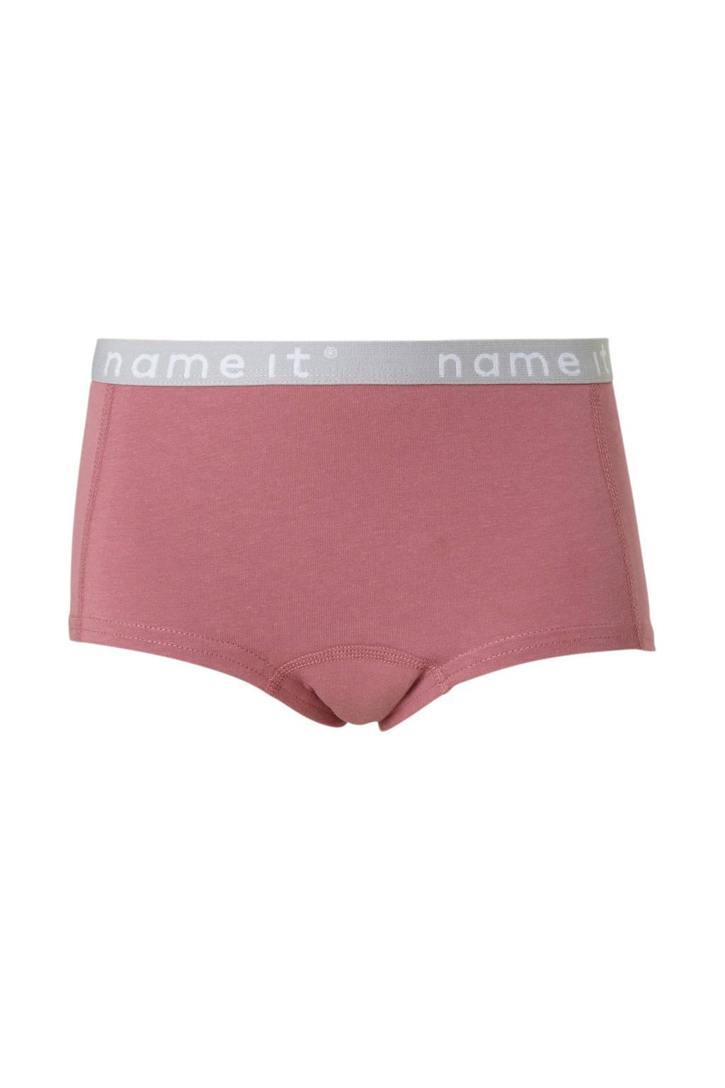 NAME IT KIDS short - set van 2, roze/ wit
