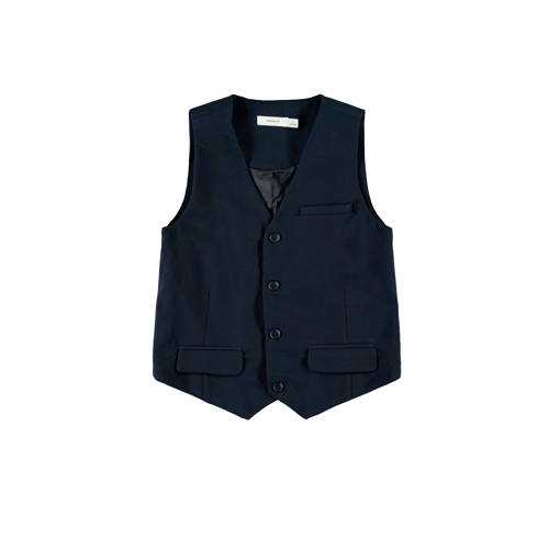 NAME IT KIDS gilet Ralf donkerblauw