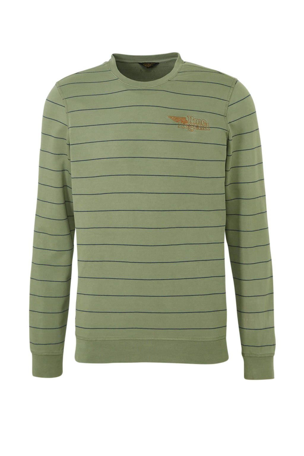 PME Legend gestreepte sweater groen, Groen