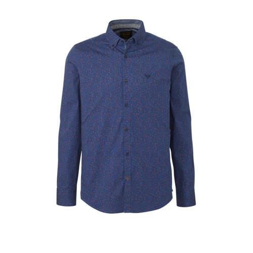 PME Legend slim fit overhemd met all over print bl