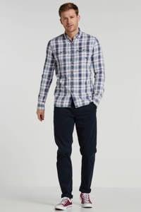 PME Legend geruit regular fit overhemd blauw/grijs/rood, Blauw/grijs/rood