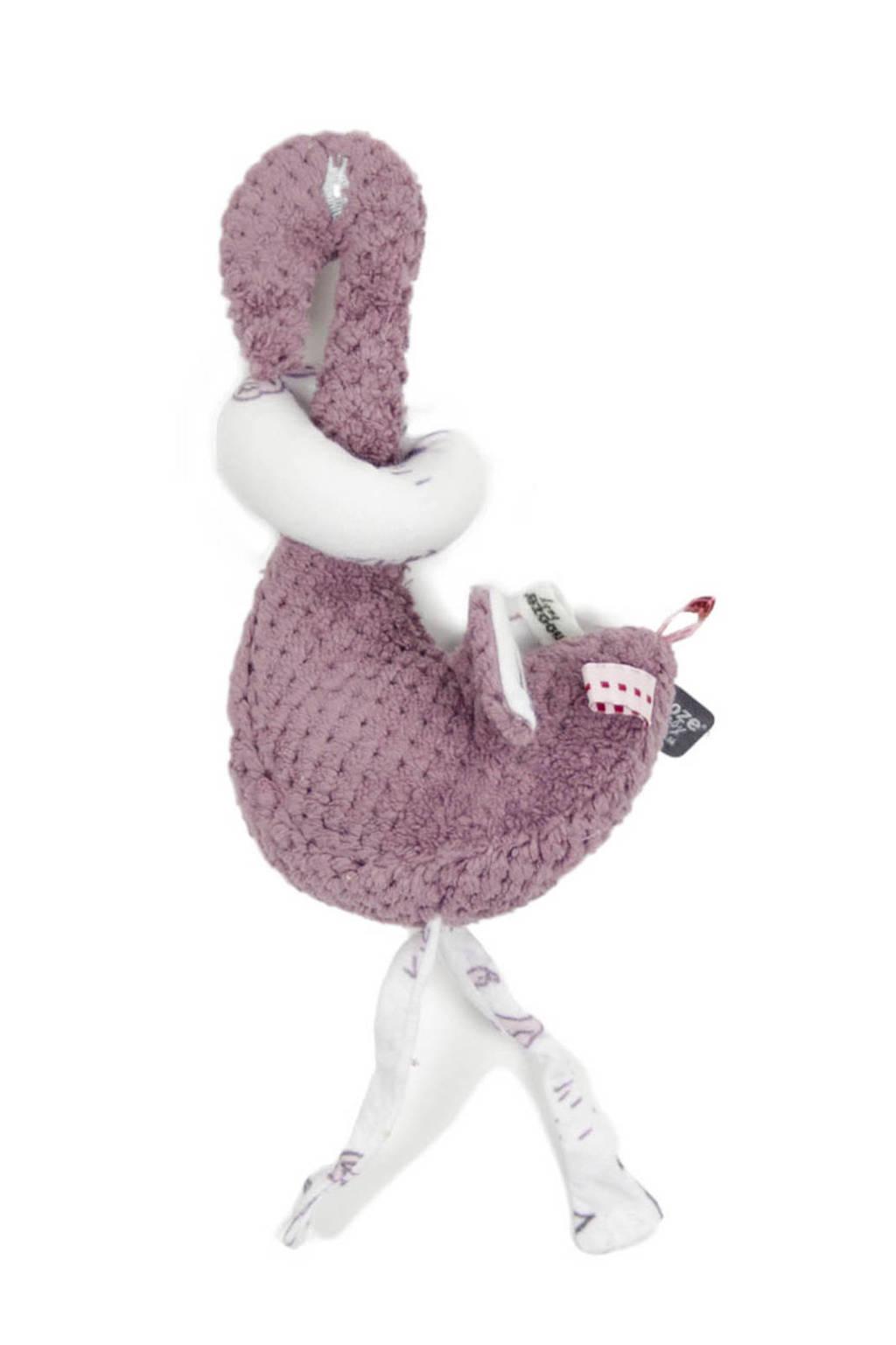 Snoozebaby Fay Flamingo knuffel knuffel 15 cm, Soft Mauve